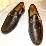 Gucci Shoes | Gucci Men'S Brown Leather Horsebit Loafers Shoes | Color: Brown | Size: 11