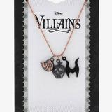 Disney Jewelry   Disney Villains Cluster 3 Charm Necklace Ursula, Maleficent, Evil Queen   Color: White/Silver   Size: Os