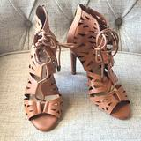 Jessica Simpson Shoes   Jessica Simpson Lace Up High Heels Gladiator   Color: Tan   Size: 8