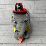 Disney Toys | Disney Plush Dumbo Fireman Elephant Stuffed Animal Toy | Color: Gray/Red | Size: 7 Approximate See Pictures
