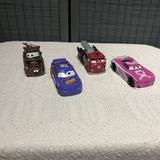 Disney Toys | Bundle: 4 Piece Disney Pixar'S Cars Die Cast | Color: Blue/Red | Size: Os
