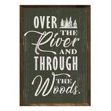 Kendrick Home Decorative Plaques Green - 'Over the River' Framed Wall Art