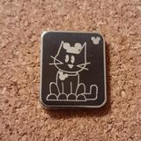 Disney Accessories   Disney   Cat With Mickey Ears Pin   Color: Black   Size: Os