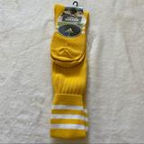Adidas Accessories | Adidas Copa Zone Soccer Socks Youth Large Womens | Color: White/Yellow | Size: Youth Large