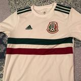 Adidas Shirts & Tops | Adidas Kids Mexico Soccer Jersey | Color: Cream | Size: Kids Xl
