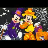 Disney Holiday | Halloween Party Mickey & Minnie Mouse Accent Rug | Color: Yellow | Size: Os
