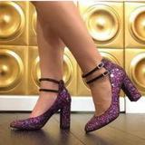 Kate Spade Shoes | Kate Spade Baneera Glitter Mary Jane Pum | Color: Tan | Size: 8