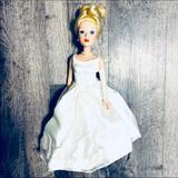 Disney Toys | 2002 Disney Porcelain Cinderella Doll 14 Wedding | Color: Silver | Size: 14