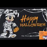 Disney Holiday | Happy Halloween Mummy Mickey Mouse Accent Rug Jol | Color: Black/White | Size: Os