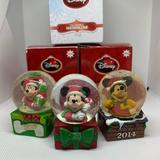 Disney Holiday | 3 Limited Edition Disney Mickey Mouse Globe | Color: Brown | Size: Os