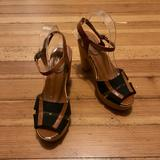 Madewell Shoes | Madewell Wooden Canvas Platform Sandals. | Color: Brown | Size: 9