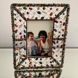 Anthropologie Accents   Anthropologie Beaded Picture Frame   Color: Brown   Size: Os