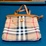 Burberry Bags | Burberry Reversible Tote. 18 Inches By 17 Inches. | Color: Cream | Size: Os