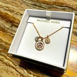 Michael Kors Jewelry | Michael Kors Rose Gold Charm Pendant Necklace | Color: Gold | Size: Michael Kors Silver Charm Pendant Necklace