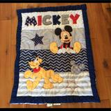 Disney Bedding | Disney Mickey Mouse Crib Blanket | Color: Black | Size: Crib Blanket
