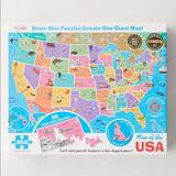 Urban Outfitters Games | Map Of The Usa 850 Piece Puzzle | Color: Pink/White | Size: Os