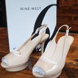 Nine West Shoes | Bnib Nine West Nude Peep Toe Pumps | Color: Cream/White | Size: 7