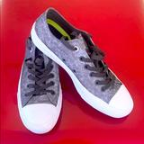 Converse Shoes   Chuck Taylor Unisex All Star Ii Ox Womens 9.5   Color: Silver/White   Size: 9.5