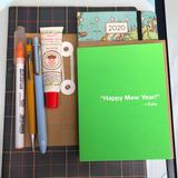 Anthropologie Office | New Year 'S Day Blank Card | Color: Green | Size: Os