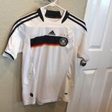 Adidas Shirts & Tops   Germany Soccer Jersey Kids 152 Us Size Medium   Color: White/Silver   Size: Medium Or 152