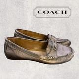 Coach Shoes   Coach Fredrica Bronze Leather Flats Loafers 7.5   Color: Black/Red   Size: 7.5
