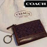 Coach Accessories   Coach Card Holder Wallet - Plum   Color: Cream/White   Size: Card Holder Wallet