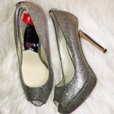 Michael Kors Shoes | Michael Kors Silver Peep Toe Sandals 6 | Color: Silver | Size: 6