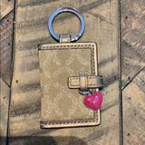 Coach Accessories | Authentic Coach Key Chain Locket. Bronze In Color | Color: Tan | Size: 3x2