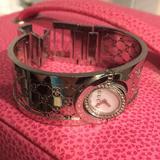 Gucci Jewelry | Gucci Twirl Watch Bangle Bracelet Diamond | Color: Brown/Black | Size: Os
