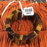 Anthropologie Jewelry   Anthroplogie Semi-Precious Gem Stone Tiger Eye   Color: Red/Brown   Size: Os