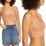 Free People Intimates & Sleepwear | Free People You Wanna Crochet Brami Bralette S M | Color: Tan | Size: Various