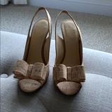 Kate Spade Shoes | Natural Celeste Cork Open-Toe Slingback | Color: Black/Brown | Size: 6