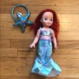 Disney Toys | Guc 14 Ariel Doll + Matching Girl Headband | Color: Brown | Size: Osg