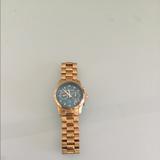 Michael Kors Accessories | Michael Kors Watch Hunger Stop Mk-5815 Watch | Color: Blue | Size: Mid Size