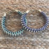 J. Crew Jewelry | 2 Jcrew Rope-String-Crystal Bracelets | Color: Black | Size: Os