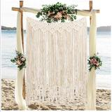 Urban Outfitters Wall Decor | Macrame Wall Hanging Large Cotton Decor | Color: Cream | Size: Os