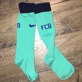 Nike Accessories | Barcelona Fcb Nike Boys Kids Long Soccer Socks | Color: Silver | Size: Osb