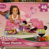 Disney Games | 3 $15 Minnie Mouse & Daisy Duck Floor Puzzle | Color: Purple/Black | Size: Os