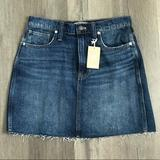 Madewell Skirts | New Madewell Jean Skirt | Color: Blue/Black | Size: 27