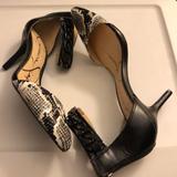 Jessica Simpson Shoes | Jessica Simpson Snake Print Heels | Color: Tan | Size: 8