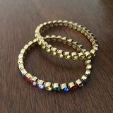 J. Crew Jewelry | 2-Pack Alison Lou X J. Crew Crystal Bracelets | Color: Brown/Black | Size: Os