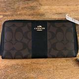 Coach Bags   New Coach Wallet Slim Zip Around Leather Wallet   Color: Black   Size: Os