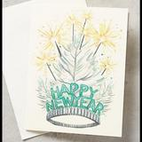 Anthropologie Party Supplies | Anthropologie Happy New Year Card New | Color: Silver | Size: Os