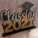 Urban Outfitters Accents   Class Of 2021 Graduation Sign Table Decoration   Color: Brown   Size: Os