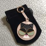 Kate Spade Accessories | Kate Spade Smitten Kitten Charm Keychain | Color: Black | Size: Os