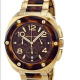 Michael Kors Accessories | Michael Kors Tribeca Chronograph Womens Watch | Color: Brown/Cream | Size: Os
