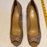 Nine West Shoes   High Heel Peep Toe Shoe   Color: Cream/Tan   Size: 7.5