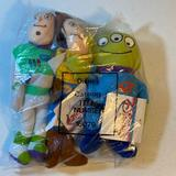 Disney Toys   Bundle Of Three Toy Story Bean Bag Plush   Color: Black/Blue   Size: 7 To 9