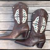 Nine West Shoes   Leather Nine West Cowboy Boots - Cowgirl Boots - Like New, Never Used!   Color: Blue/Brown   Size: 9