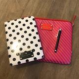 Kate Spade Accessories | Kate Spade Mini Ipad Cover, Stylus Pen & Bag | Color: Cream | Size: Os